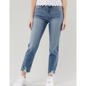 Hollister High Rise Slim Straight Jeans